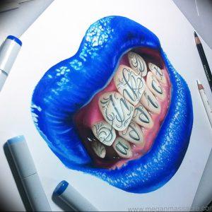 фото тату губы рисунок от 30.09.2017 №083 - tattoo lips drawing - tattoo-photo.ru