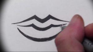 фото тату губы рисунок от 30.09.2017 №087 - tattoo lips drawing - tattoo-photo.ru