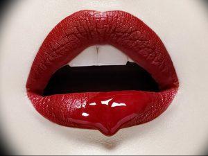 фото тату губы рисунок от 30.09.2017 №096 - tattoo lips drawing - tattoo-photo.ru
