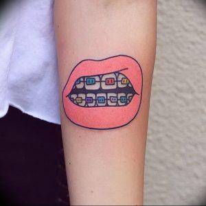 фото тату губы рисунок от 30.09.2017 №100 - tattoo lips drawing - tattoo-photo.ru