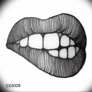 фото тату губы рисунок от 30.09.2017 №101 - tattoo lips drawing - tattoo-photo.ru