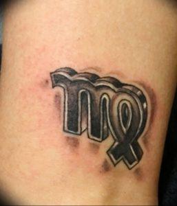 фото тату знак зодиака Дева от 30.09.2017 №013 - tattoo zodiac sign Virgo - tattoo-photo.ru