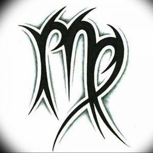 фото тату знак зодиака Дева от 30.09.2017 №016 - tattoo zodiac sign Virgo - tattoo-photo.ru