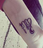 фото тату знак зодиака Дева от 30.09.2017 №017 — tattoo zodiac sign Virgo — tattoo-photo.ru