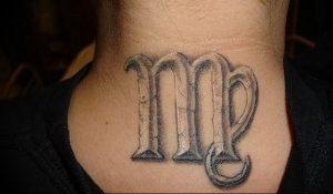 фото тату знак зодиака Дева от 30.09.2017 №038 - tattoo zodiac sign Virgo - tattoo-photo.ru