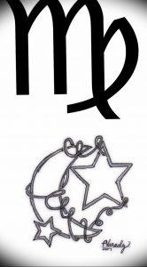 фото тату знак зодиака Дева от 30.09.2017 №065 - tattoo zodiac sign Virgo - tattoo-photo.ru