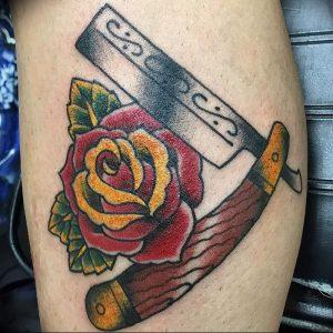 фото тату лезвие (опасная бритва) от 08.09.2017 №001 - tattoo dangerous razor