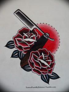 фото тату лезвие (опасная бритва) от 08.09.2017 №015 - tattoo dangerous razor