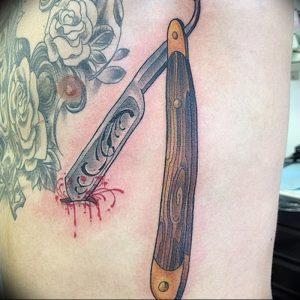 фото тату лезвие (опасная бритва) от 08.09.2017 №016 - tattoo dangerous razor