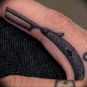 фото тату лезвие (опасная бритва) от 08.09.2017 №026 - tattoo dangerous razor