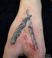 фото тату лезвие (опасная бритва) от 08.09.2017 №063 — tattoo dangerous razor