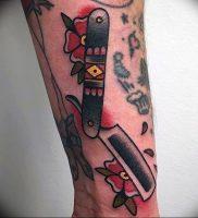 фото тату лезвие (опасная бритва) от 08.09.2017 №065 — tattoo dangerous razor