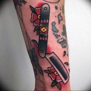 фото тату лезвие (опасная бритва) от 08.09.2017 №065 - tattoo dangerous razor
