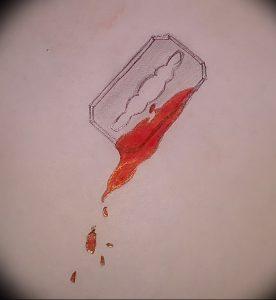 фото тату лезвие (опасная бритва) от 08.09.2017 №067 - tattoo dangerous razor
