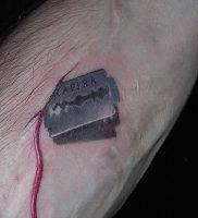 фото тату лезвие (опасная бритва) от 08.09.2017 №068 — tattoo dangerous razor