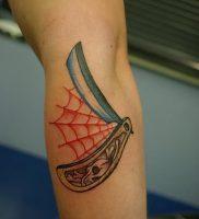 фото тату лезвие (опасная бритва) от 08.09.2017 №072 — tattoo dangerous razor