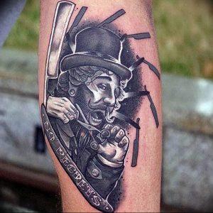 фото тату лезвие (опасная бритва) от 08.09.2017 №076 - tattoo dangerous razor
