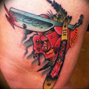 фото тату лезвие (опасная бритва) от 08.09.2017 №086 - tattoo dangerous razor