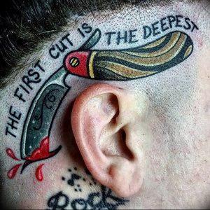 фото тату лезвие (опасная бритва) от 08.09.2017 №087 - tattoo dangerous razor