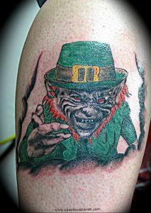 фото тату лепрекон от 04.10.2017 №006 - tattoo leprechaun - tattoo-photo.ru