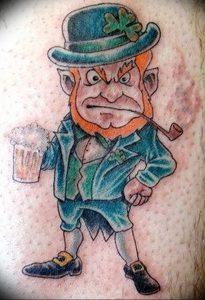 фото тату лепрекон от 04.10.2017 №013 - tattoo leprechaun - tattoo-photo.ru
