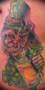 фото тату лепрекон от 04.10.2017 №024 - tattoo leprechaun - tattoo-photo.ru