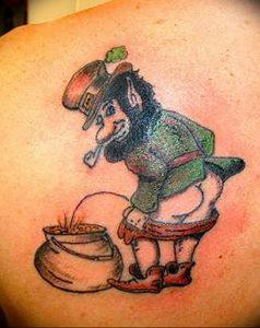 фото тату лепрекон от 04.10.2017 №030 - tattoo leprechaun - tattoo-photo.ru 1235623