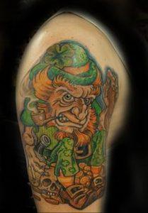 фото тату лепрекон от 04.10.2017 №046 - tattoo leprechaun - tattoo-photo.ru
