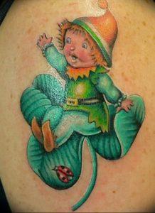 фото тату лепрекон от 04.10.2017 №062 - tattoo leprechaun - tattoo-photo.ru