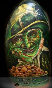 фото тату лепрекон от 04.10.2017 №073 - tattoo leprechaun - tattoo-photo.ru