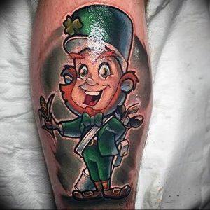 фото тату лепрекон от 04.10.2017 №080 - tattoo leprechaun - tattoo-photo.ru