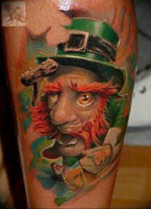 фото тату лепрекон от 04.10.2017 №091 - tattoo leprechaun - tattoo-photo.ru