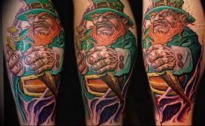 фото тату лепрекон от 04.10.2017 №095 - tattoo leprechaun - tattoo-photo.ru
