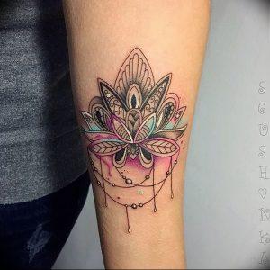 фото тату лотос от 02.10.2017 №003 - lotus tattoo - tattoo-photo.ru