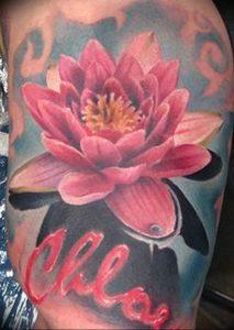 фото тату лотос от 02.10.2017 №017 - lotus tattoo - tattoo-photo.ru