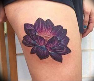 фото тату лотос от 02.10.2017 №021 - lotus tattoo - tattoo-photo.ru