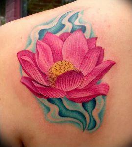 фото тату лотос от 02.10.2017 №023 - lotus tattoo - tattoo-photo.ru