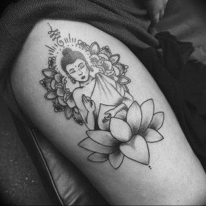 фото тату лотос от 02.10.2017 №029 - lotus tattoo - tattoo-photo.ru