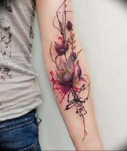 фото тату лотос от 02.10.2017 №041 - lotus tattoo - tattoo-photo.ru