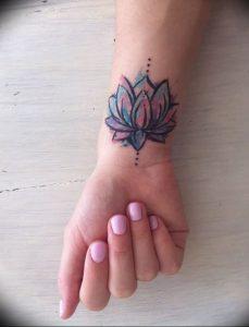 фото тату лотос от 02.10.2017 №044 - lotus tattoo - tattoo-photo.ru