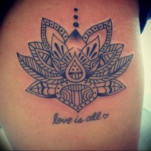 фото тату лотос от 02.10.2017 №067 - lotus tattoo - tattoo-photo.ru