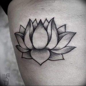 фото тату лотос от 02.10.2017 №077 - lotus tattoo - tattoo-photo.ru