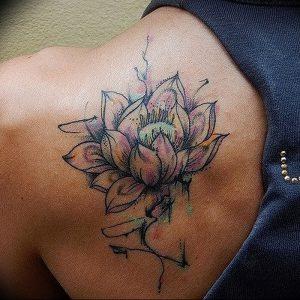 фото тату лотос от 02.10.2017 №088 - lotus tattoo - tattoo-photo.ru