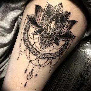 фото тату лотос от 02.10.2017 №109 - lotus tattoo - tattoo-photo.ru