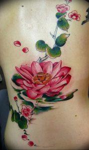 фото тату лотос от 02.10.2017 №114 - lotus tattoo - tattoo-photo.ru