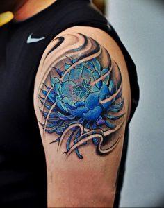 фото тату лотос от 02.10.2017 №165 - lotus tattoo - tattoo-photo.ru