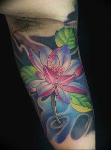 фото тату лотос от 02.10.2017 №169 - lotus tattoo - tattoo-photo.ru