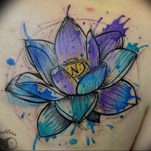 фото тату лотос от 02.10.2017 №185 - lotus tattoo - tattoo-photo.ru