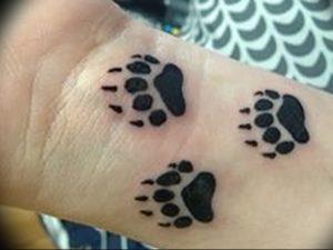 фото тату медвежья лапа от 30.09.2017 №003 - bear paw tattoo - tattoo-photo.ru