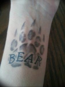 фото тату медвежья лапа от 30.09.2017 №006 - bear paw tattoo - tattoo-photo.ru